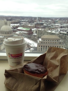 Dunkin' Donuts - Coffee and a Boston Creme donut