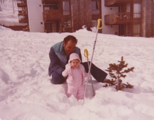 My earliest photo with my grandpa, somewhere in Colorado